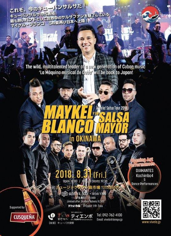 MAYKEL BLANCO y su Salsa Mayor in OKINAWA